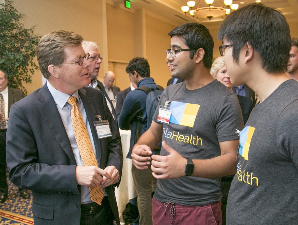 The kelaHealth team meet with President Price