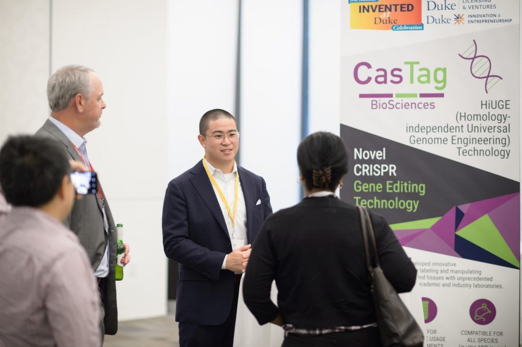 CasTag Biosciences founded by Scott Soderling, has developed innovative CRISPR-based reagent kits for labeling and manipulating endogenous proteins in cells and tissues with unprecedented precision and ease of use for academic and industry laboratories. Alan Ma pictured.