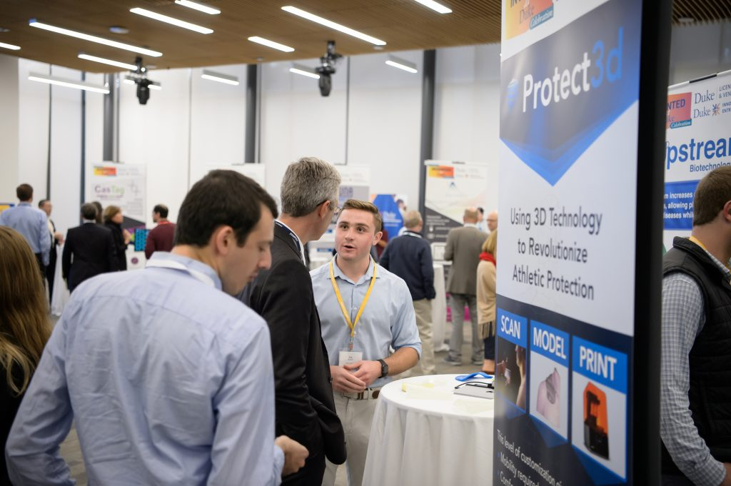 Protect3d is a student startup founded by Kevin Gehsmann, Clark Bulleit, Tim Skapek. What began as a novel engineering project helping former Duke QB and #6 overall draft pick Daniel Jones return to the field has become a startup revolutionizing protective equipment used in all levels of athletics and beyond.