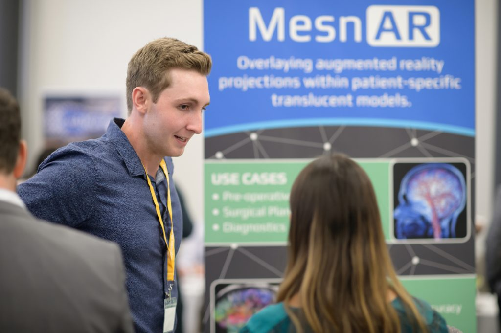 MesnAR is a medical venture developed by student Erikson Nichols. Its mission is to provide efficient and effective customization and creation of anatomical models in a mixed media platform.